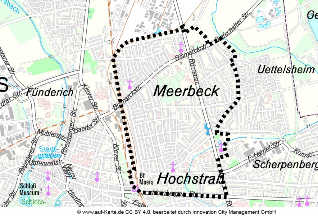 Projektgebiet Moers Meerbeck/Hochstraß