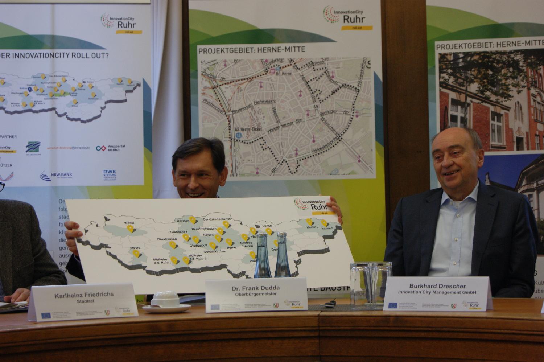 InnovationCity roll out-Pressekonferenz im Rathaus Herne
