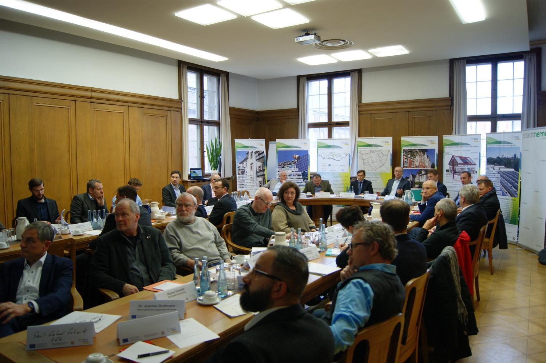 Zahlreiche Akteure aus dem Quartier Herne-Mitte besuchten den InnovationCity-Projekttisch