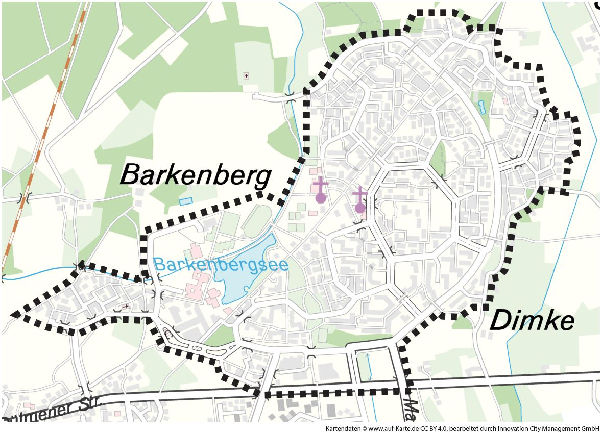 InnovationCity roll out-Quartier Dorsten: Wulfen-Barkenberg Abgrenzung