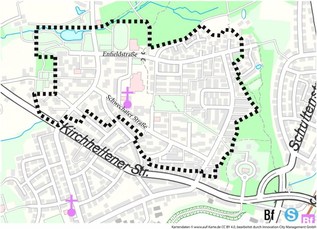 Quartiersabgrenzung Lünen-Süd