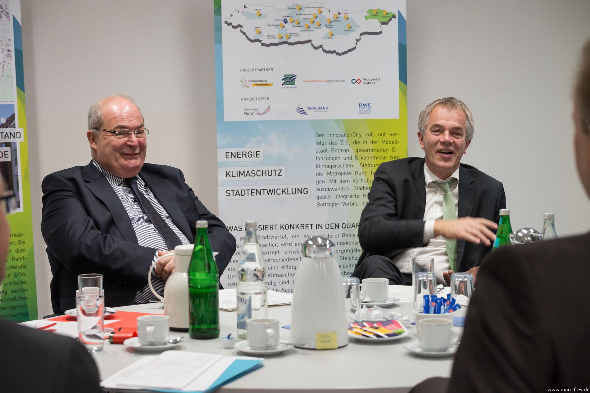 Erstes Pressegespräch im InnovationCity roll out-Quartier Hamm Weststadt