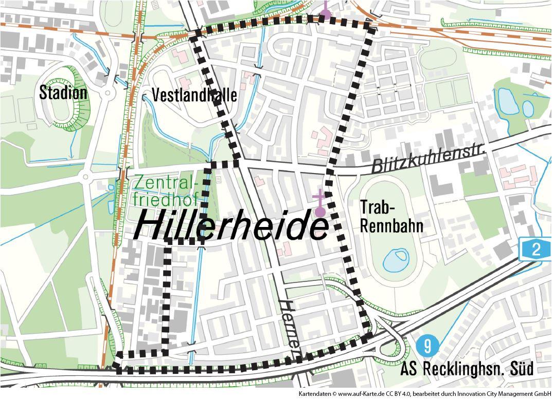 Projektgebiet Hillerheide