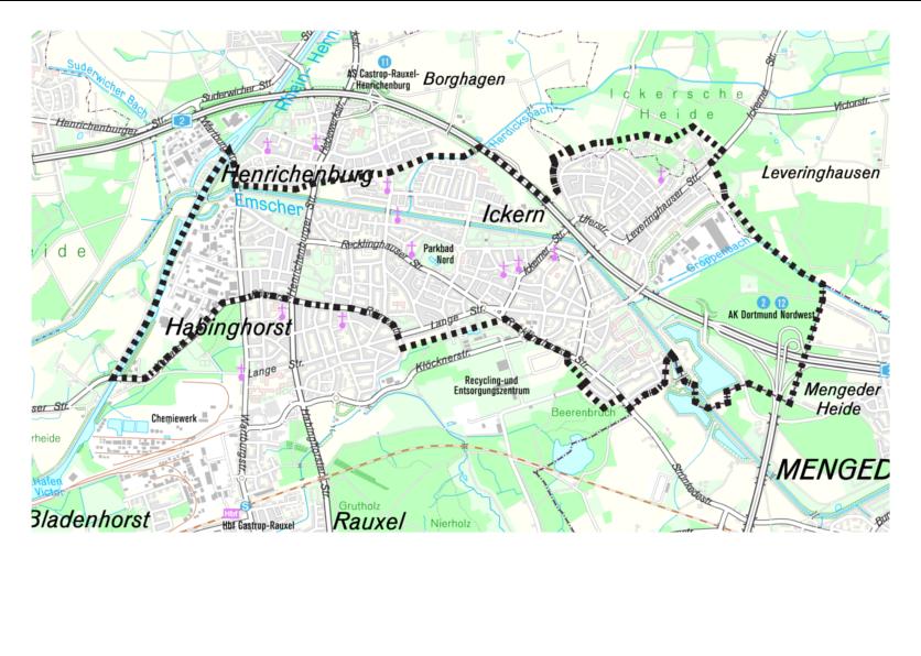 Quartiersabgrenzung Castrop-Rauxel