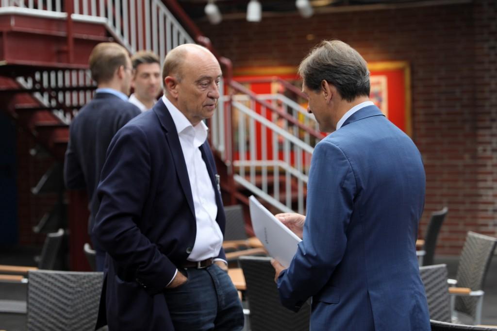 Burkhard Drescher und Dr. Frank Dudda im Gespräch.