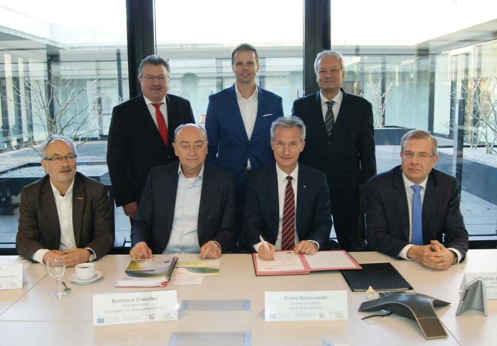 Unterzeichnung der Zielvereinbarung Gelsenkirchen - Rotthausen